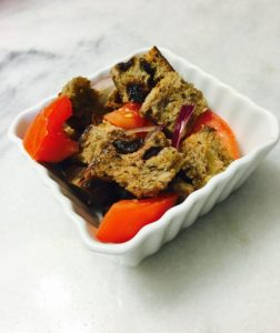 raisin bread panzanella