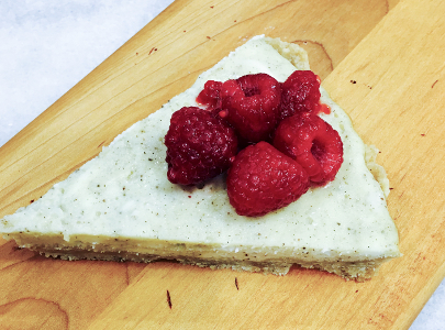 raspberry goat cheese tart