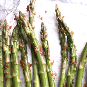 Roasted Asparagus with Sundried Tomatoes