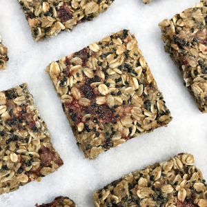 Roasted Strawberry Black Sesame Granola Bars