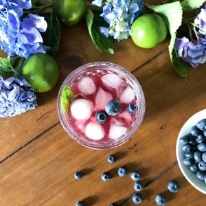 Blueberry and Raspberry Iced Tea