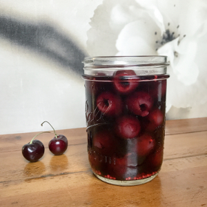 Pickled Cherries in Jar