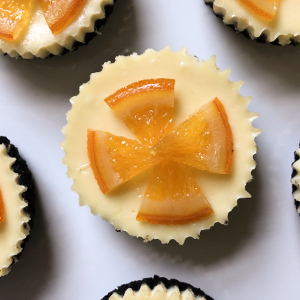 Orange Mini Cheesecakes