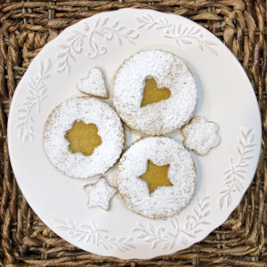 Pineapple Linzer Cookies