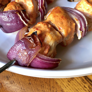 Chicken Kebab with Red Onion